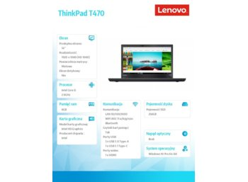 Lenovo ThinkPad T470 20HD000MPB