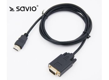 Elmak Savio CL-103 Kabel HDMI-VGA M/M, Full HD, 1,8m