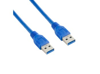 4world Kabel USB 3.0 AM-AM 1,8m niebieski