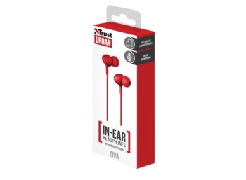 Trust Ziva In-ear Headphones with microphone red