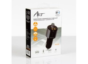 ART Transmiter FM MP3 2xUSB 3.4A z BT pilot LED FM-07BT