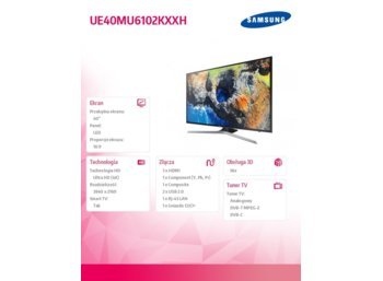 "Samsung 40"" TV LED UHD UE40MU6102KXXH"