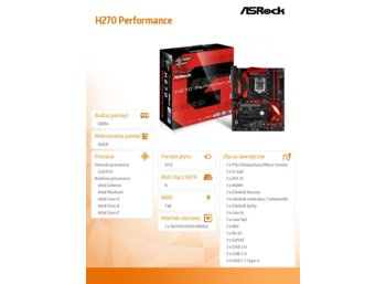 ASRock H270 Performance s1151 4DDR4 2USB3.0/M.2 ATX