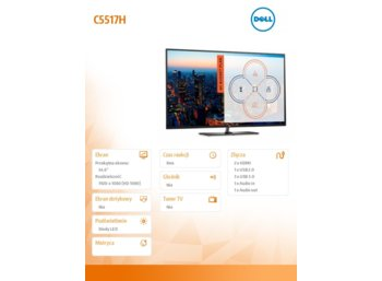 Dell Monitor 54.6 C5517H LED 16:9/1920x1080/2xHDMI/VGA/USB2.0/3xUSB3.0/RS232/3Y PPG