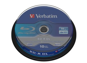 Verbatim BD-R DL(10-pack) 50GB/6x/spindle