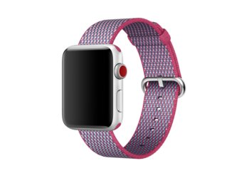 Apple 42mm Berry Check Woven Nylon