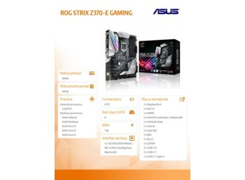 Asus ROG STRIX Z370-E GAMING s1151 4DDR4 ATX