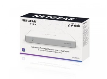 Netgear Switch GC510PP 8x1Gb PoE+ (195W) 2xSFP