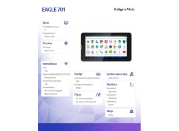 "Kruger & Matz  Tablet 7"" EAGLE 701"