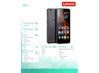 Lenovo K5+ HD Grey 2/16GB A6020a46