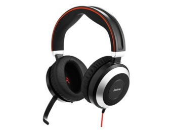 Jabra EVOLVE 80 UC Duo Headset with 3.5mm Jack